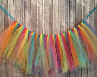 Bright Rainbow Tutu Garland