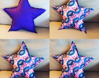 Cushion star Handmade fabric African wax