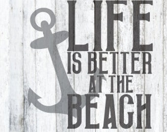 Life Is Better at the Beach SVG File