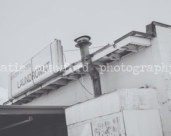 Winter Garden Florida South Woodland Street Laundromat Photograph Fine Art Print Photography katiecrawfordphoto