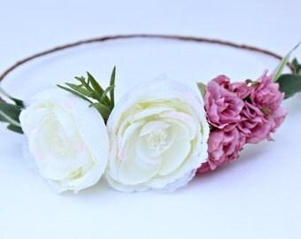 Spring Ranunculus Flower Crown