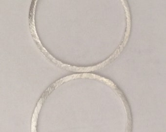 30 mm sterling silver brush circle