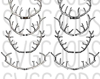 Antlers dxf, Hunting dxf, Animals dxf - Great hunter dxf, deer dxf perfect for a hipster dxf, hunting decal dxf, Vinyl, or paper cut file.