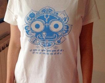 "t-shirt organic cotton yoga woman ""Jagannatha-Maha Mantra"""
