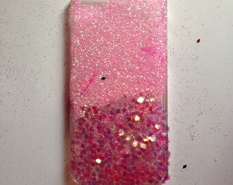 iPhone 5/5s pink glitter phone case