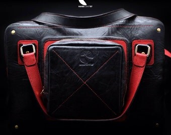 Leather handmade bag for laptop 15inch