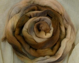 Coffe Kisses. Dorset horn spinning fibre, roving top 100g