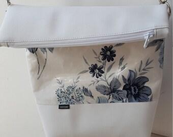 Shoulder bag PANYMOON - blue flower - lined