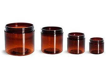 Amber 2oz Creme Container with Cap /pack of 10