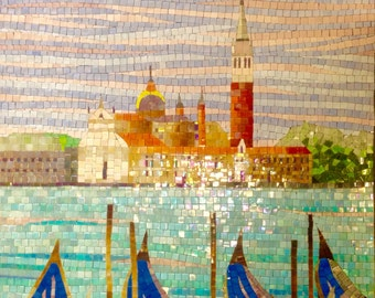 Glass Mosaic, Moored Boats
