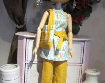 All tunic, pants, belt and bag for Pullip - tunic and pants - Dolls clothes - Tunic, leggings and bag