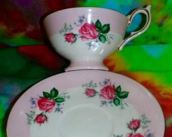 Vintage Bone China with Roses