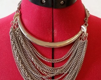 Vintage Silver layered necklace