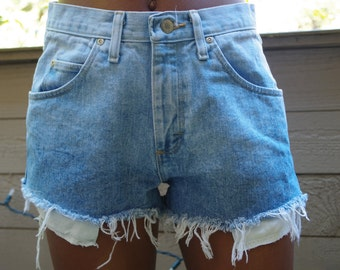 The high waisted cut-off ombre shorts