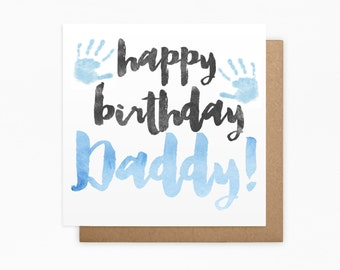 Happy Birthday Daddy Card - 100% Recycled Card - Blank Card - For Him, Dad Birthday Card, Father Card, Dad Card, From The Kids
