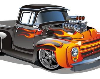 Hot Rod Car Wall Sticker Decal