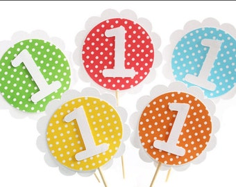 Set of Birthday Number/Age Toppers for centerpieces. (3) in a set