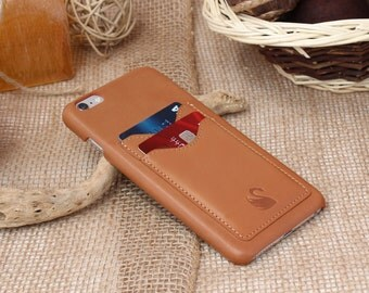 iPhone Case with Credit Card Slots, iphone 6 case leather, iphone 6s case leather, iPhone 6s Plus Case, iPhone 6 Cases (TAN)
