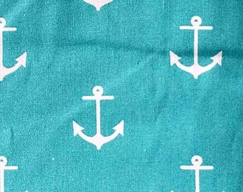 Anchor - anchors - nautical - fabric - quilting  - cotton - pinup - rockabilly  - prints