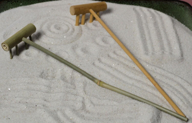 Zen garden rake zen rake 4 tine rack miniature tools - Zen garten miniatur set ...