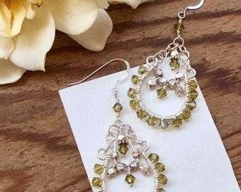 Crystal Chandelier Dangle Earrings