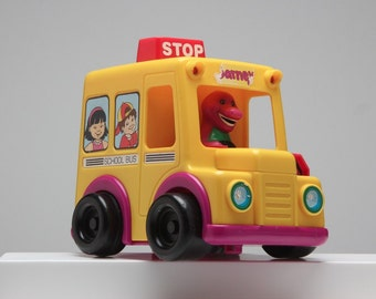 Barney School Bus Touch 'n Roll Toy The Lyons Group 1994