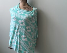 TOP SELLER ** Teal Poncho (Nursing Cover and Car Seat Cover)