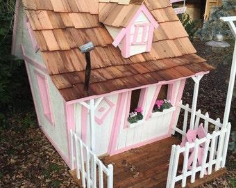 Handmade kids playhouse