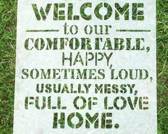 Welcome to Our Home | Stencils | Custom Stencils | Reusable Stencils | Ready to use | Get Ready to Paint! |