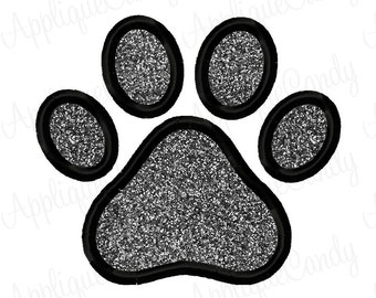 Paw Print Applique Embroidery Design 3x3 4x4 5x7 6x10 INSTANT DOWNLOAD
