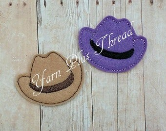 Cowboy Hat Feltie Embroidery Design