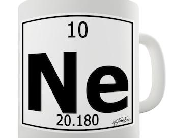 Periodic Table Of Elements Ne Neon Ceramic Novelty Gift Mug