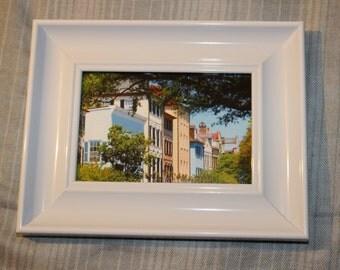 Rainbow Row - Framed Picture (Charleston, SC)