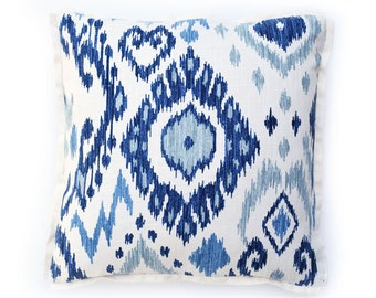 Rain Ikat Pillow Cover