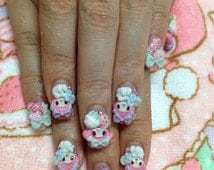 "3D nail art parts ""sweets and cake My melody design"""
