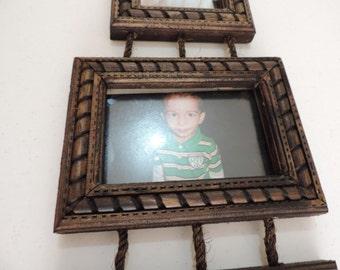 Hand-carved wooden frames