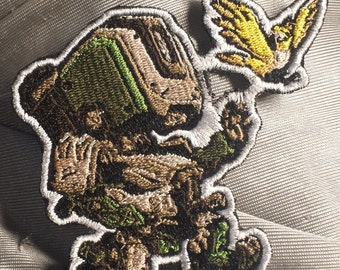 Bastion Cute Spray Patch, Overwatch Cute Patch, Overwatch Patch