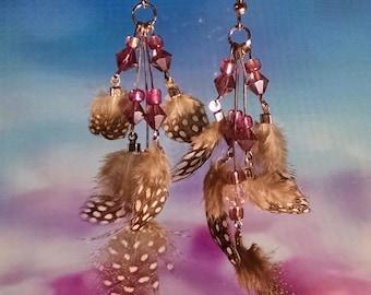 Feathers & Beads Earrings
