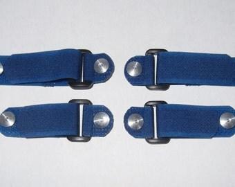 Replace-A-Lace Velcro (Hook & Loop) Straps To Replace Shoe Laces - Blue - Sz Medium