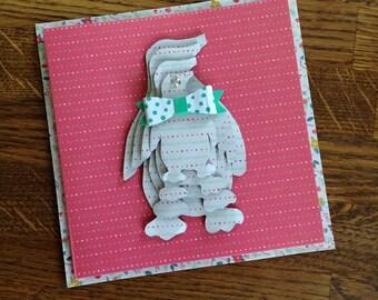 Handmade Card Penguin Design