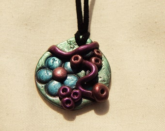 Polymer Clay Pendent Necklace