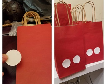Vintage Looking Mickey Mouse Bags 12 Pack