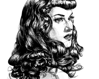 Pin up Lady Portrait