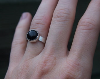 Sterling Silver Ring. Black Onyx Ring. Silver Ring. Onyx Ring.