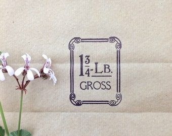 Original Vintage Grocery Store Paper Bags Packaging Set of 3