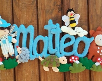 stitchable baby banner woodland animals