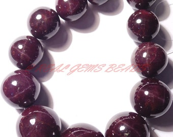 """Only At My Shop - Natural Star Garnet Rondelle, Star Garnet Smooth Round Ball Beads, 8-15 MM, 15"""" Strand, Loose Gemstone Roundel Beads 1012"""