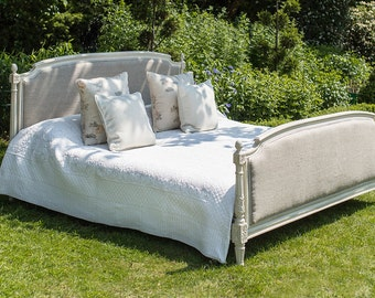 Super Kingsized French Upholstered Bed