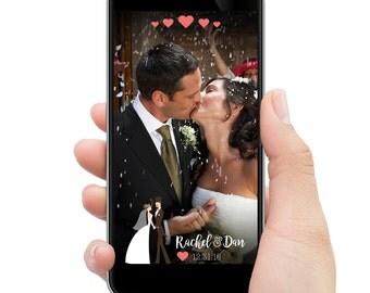 Wedding Snapchat filter // Romantic bride & groom // CUSTOMIZED