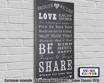 House Rules framed Canvas Print